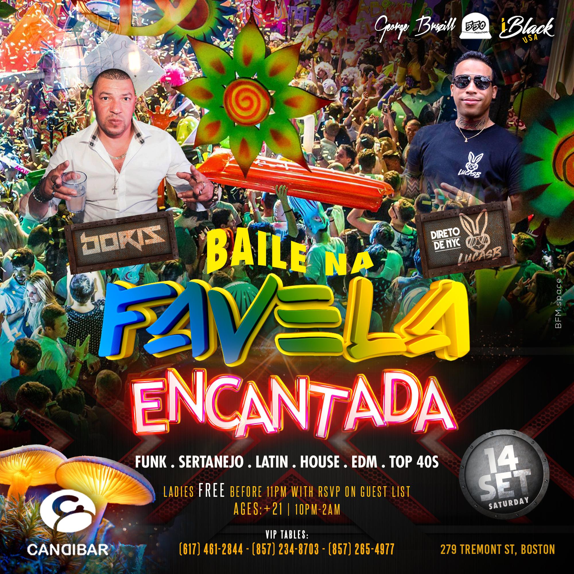 Baile na Favela Encantada 14set iBlackUSA Candibar