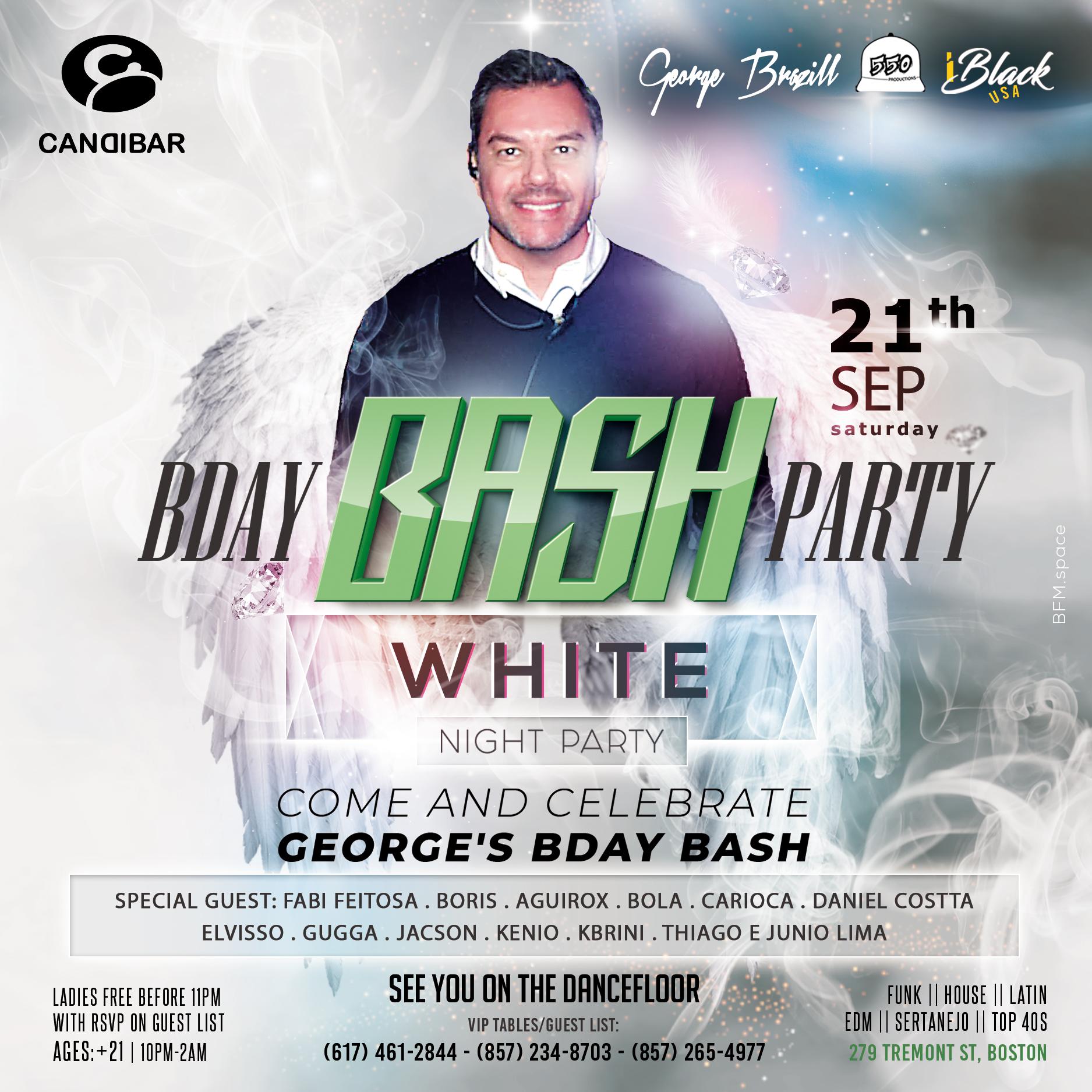 GEORGE'S BDAY BASH WHITE NIGHT PARTY | 21 SET