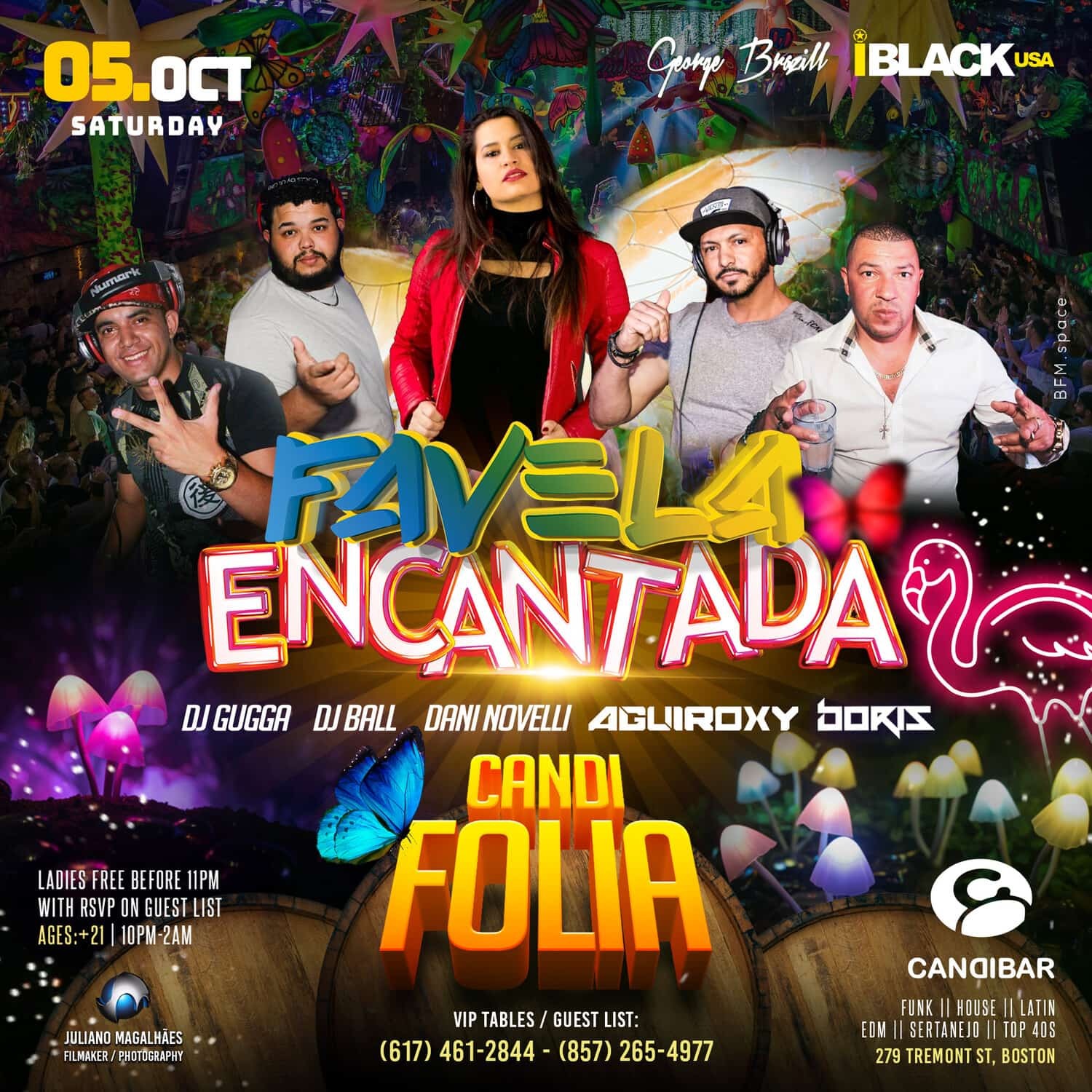 FAVELA ENCANTADA CANDI FOLIA CANDIBAR BOSTON - 05 OUT | iBlackUSA