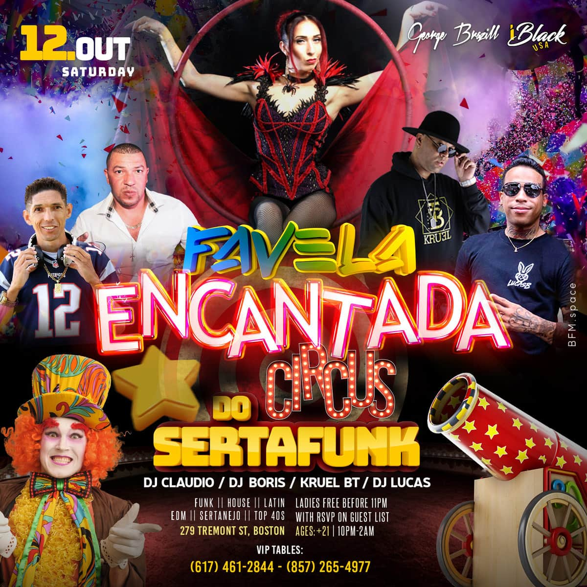 FAVELA ENCANTADA CIRCUS DO SERTAFUNK - 12 OUT - CANDIBAR BOSTON | iBlackUSA