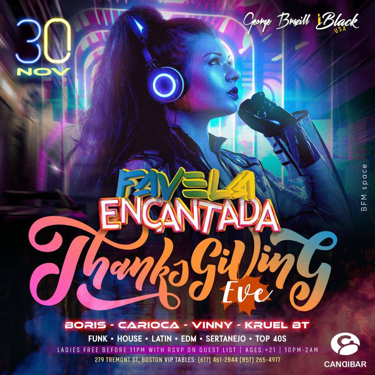FAVELA ENCANTADA THANKSGIVING EVE 30 NOV - CANDIBAR BOSTON | iBlackUSA