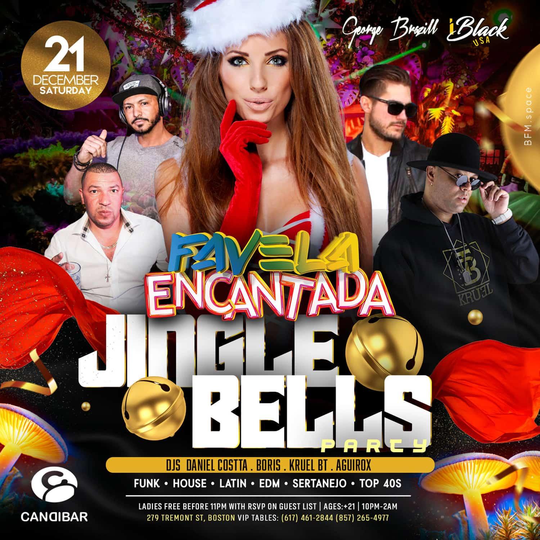 FAVELA ENCANTADA JINGLE BELLS 21 DEZ - CANDIBAR BOSTON | iBlackUSA