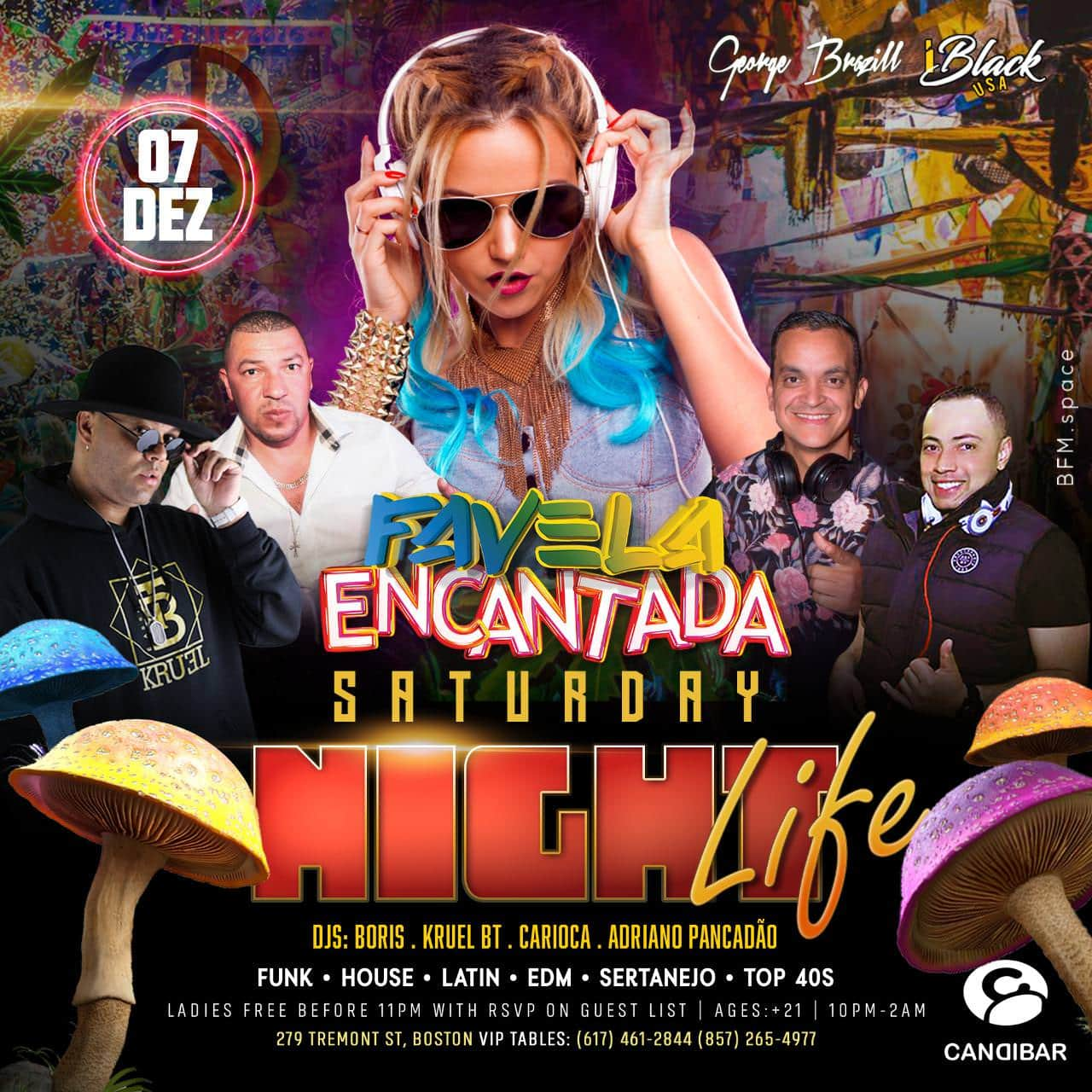 FAVELA ENCANTADA NIGHT LIFE 07 NOV CANDIBAR BOSTON | iBlackUSA