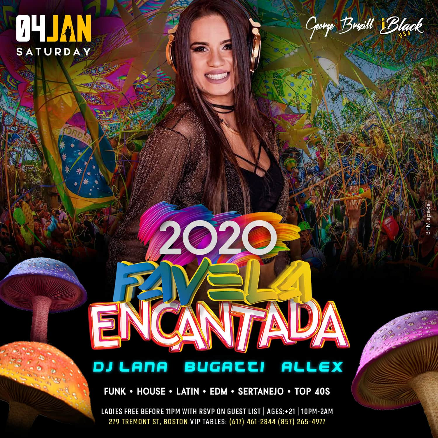 FAVELA ENCANTADA 2020 CANDIBAR BOSTON - 04 JAN | iBlackUSA