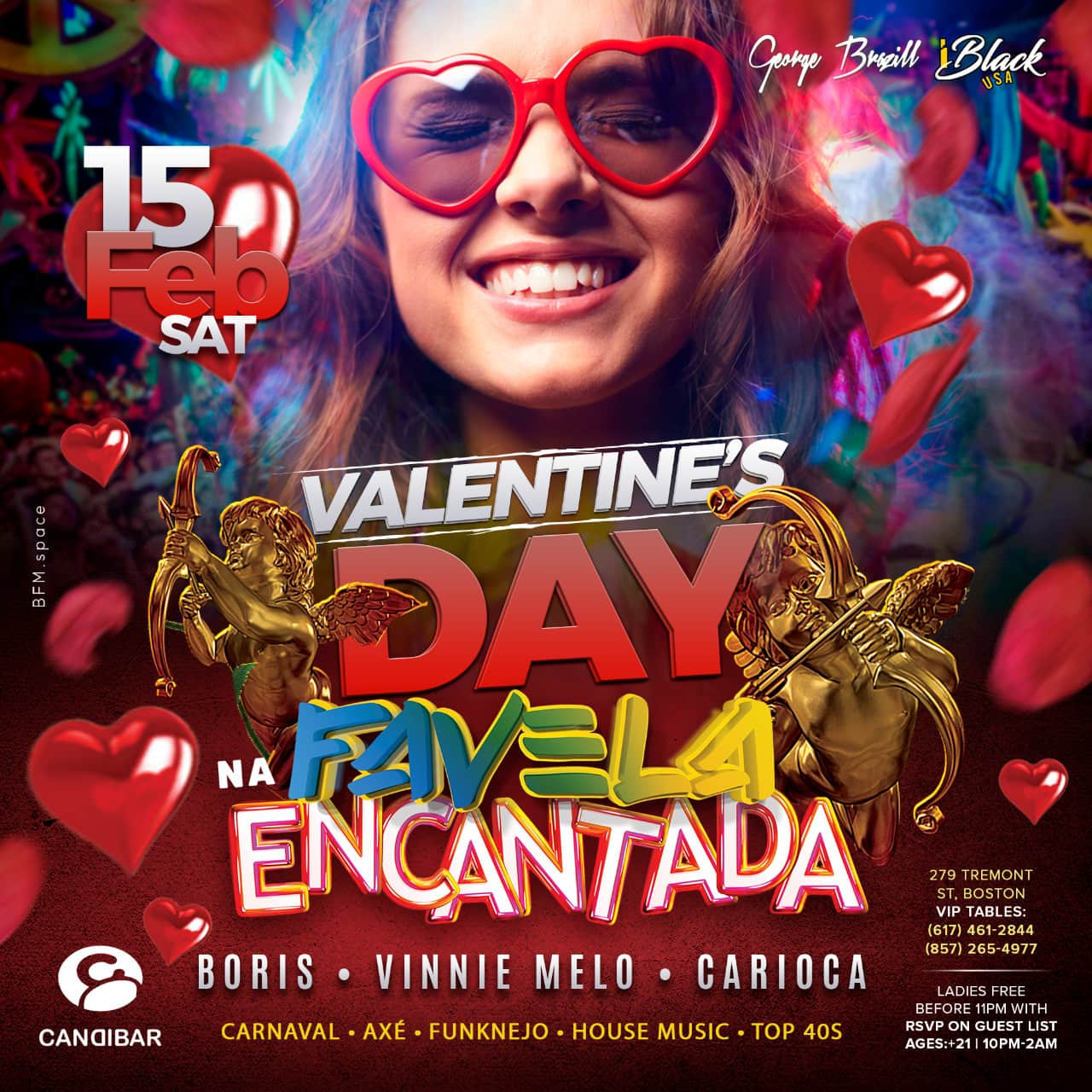 FAVELA ENCANTADA VALENTINE'S DAY 15 FEB - CANDIBAR BOSTON | iBlackUSA